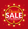 diwali sale and offers banner poster template vector image vector image