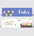 easter cards cartoon characters and vector image vector image