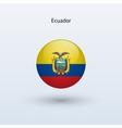 Ecuador round flag vector image vector image