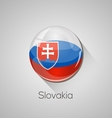 European flags set - Slovakia vector image vector image