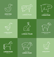 Farm Animal Icons vector image