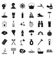 flame icons set simle style vector image vector image