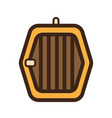 flat color dog cage icon vector image vector image