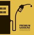 gas station poster vector image
