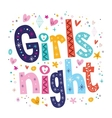 Girls night vector image vector image