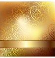 Gold elegant flower background with a lace pattern vector image vector image