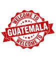 guatemala round ribbon seal vector image vector image