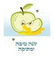 happy and sweet new year in Hebrew rosh hashanah vector image vector image