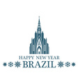 Happy New Year Brazil vector image vector image