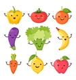 Healty food cartoon representing icons set vector image