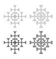helm of awe aegishjalmur or egishjalmur vector image vector image