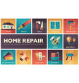 home repair - modern flat design icons set vector image