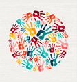human hand print concept for social help vector image vector image