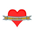 isolated love heart icon vector image vector image