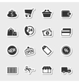 Market Icons Set as Labels vector image vector image