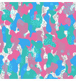 memphis camouflage seamless pattern in a white vector image