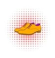 Men shoes icon comics style vector image