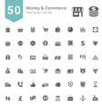 Money and Commerce Solid Icon Set vector image