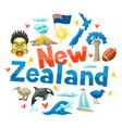 new zealand background design vector image vector image