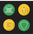 Online banking flat linear icons set vector image vector image