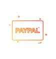paypal card icon design vector image