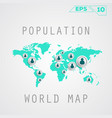 population map vector image