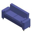purple sofa icon isometric style vector image