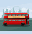 realistic london double decker bus vector image