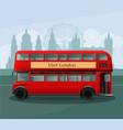 realistic london double decker bus vector image vector image