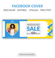 sale facebook cover template vector image vector image