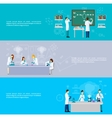 Scientist Banner Set vector image vector image