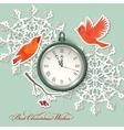 Scrapbook element Christmas background vector image vector image