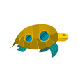 sea turtle toy with windows icon vector image vector image