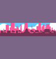 seoul silhouette skyline south korea city view vector image