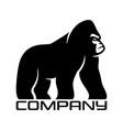 silhouette of gorilla logo vector image