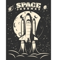 Space Journey Monochrome Print vector image