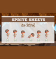 sprite sheets ducking template vector image