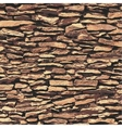 Stone wall brown relief texture with shadow vector image vector image