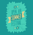summer festival typography vintage grunge poster vector image vector image