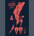 summer party vintage grunge poster design vector image