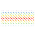 surgery knife shape halftone spectral grid vector image