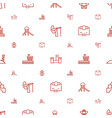 tower icons pattern seamless white background vector image vector image