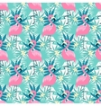 tropical flamingo seamless vector image vector image