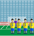 Ukraine Soccer Club Penalty on a Stadium vector image vector image