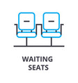 waiting seats thin line icon sign symbol vector image vector image