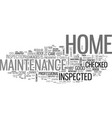 why care about home maintenance text word cloud vector image vector image