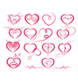 Set of symbol hearts vector image