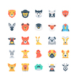 Animals and Birds Colored Icons 3 vector image
