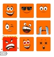 set of cool glossy Single vector image