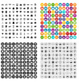 100 business icons set variant vector image vector image